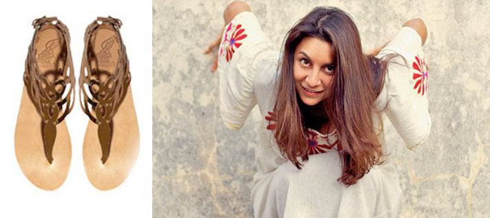 Η Χριστίνα Μαρτίνη σκίζει με τα αρχαιοελληνικά σανδάλια της