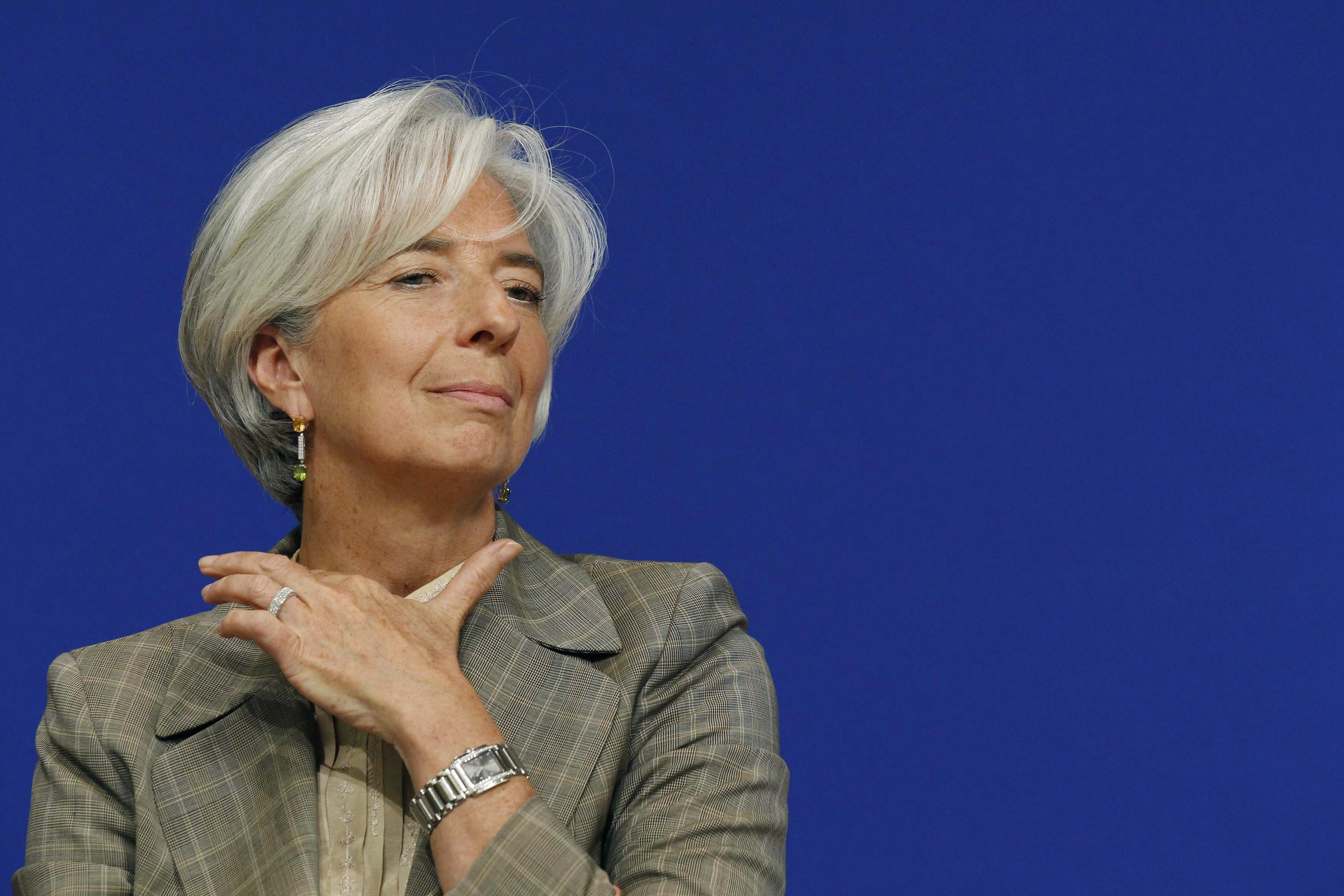 French Finance Minister Lagarde attends a conference on Sino-European economic relations in Paris