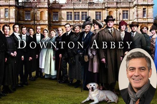 George Clooney, Downton Abbey, «Πύργος του Ντάουντον», TV