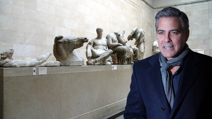 Amal Alamuddin, Αθήνα, γλυπτά του Παρθενώνα