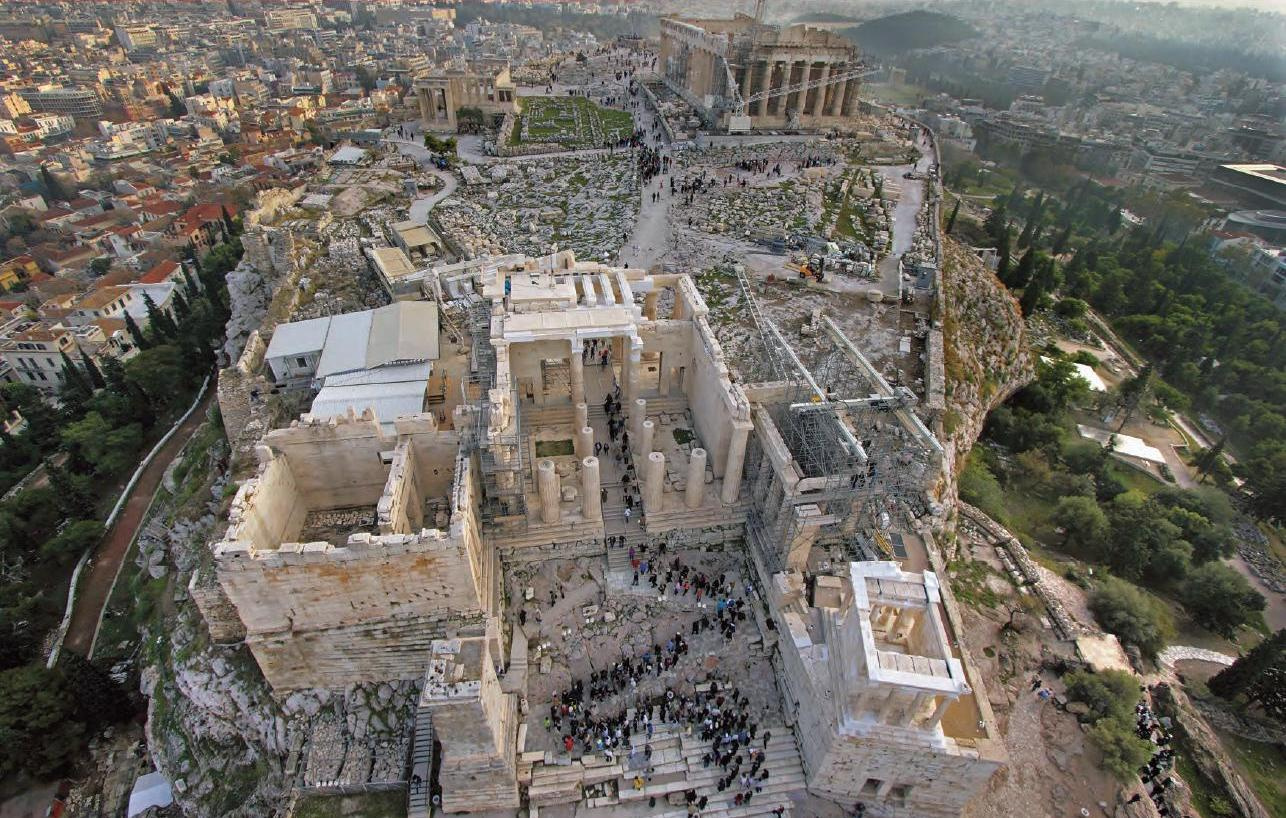 Ακρόπολη, βράχος, Παρθενώνας, πρόβλημα στον βράχο, καταρρέει