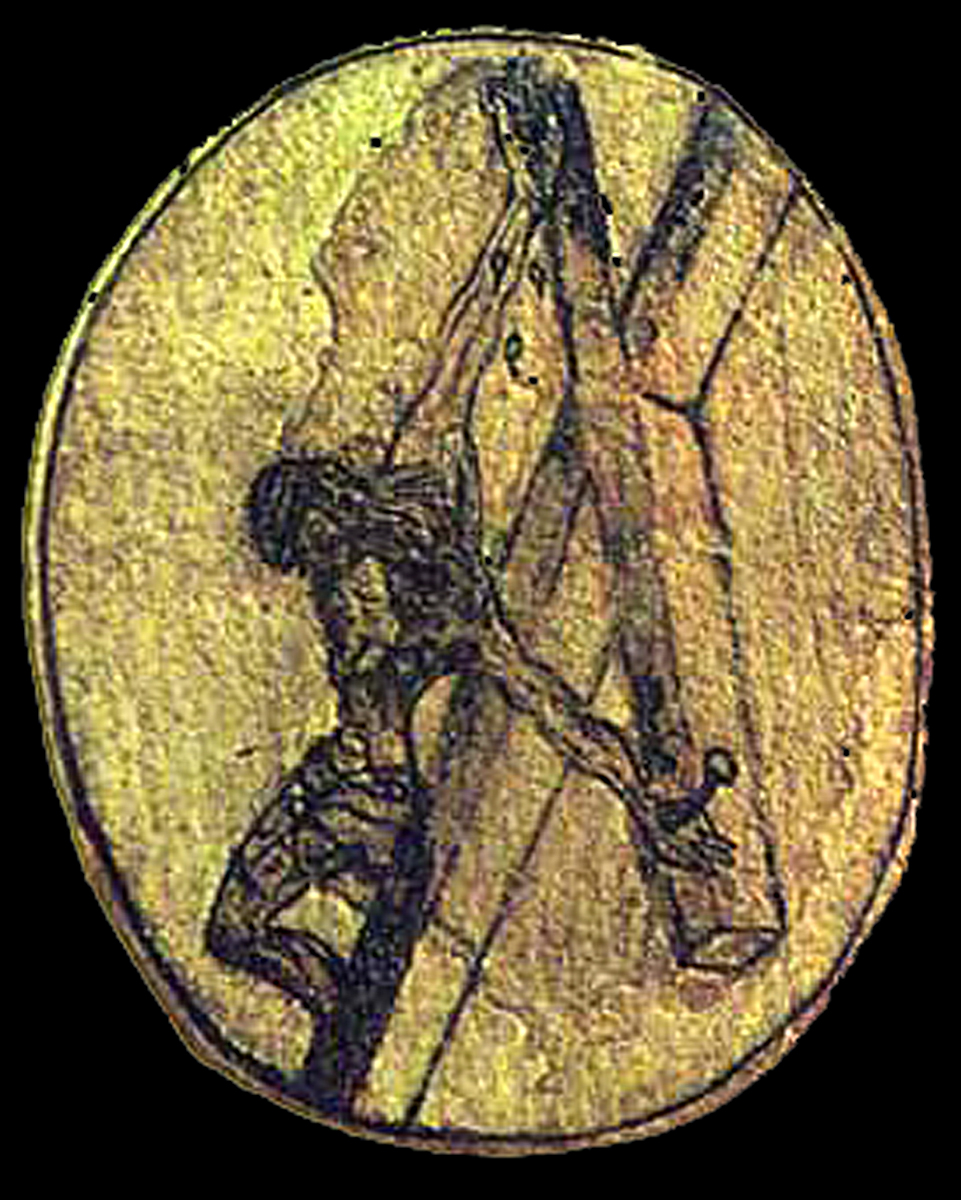 6_Crucifixion sketch by St. John of the Cross, c. 1550.