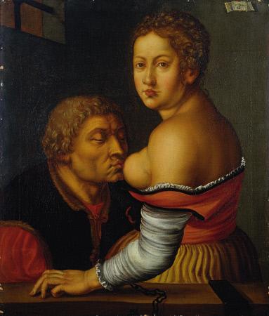 Cimon And Pero (Caritas Romana). Georg Pencz (C. 1500-C.1550). Dated 1541, Oil On Canvas, 77 X 66cm.