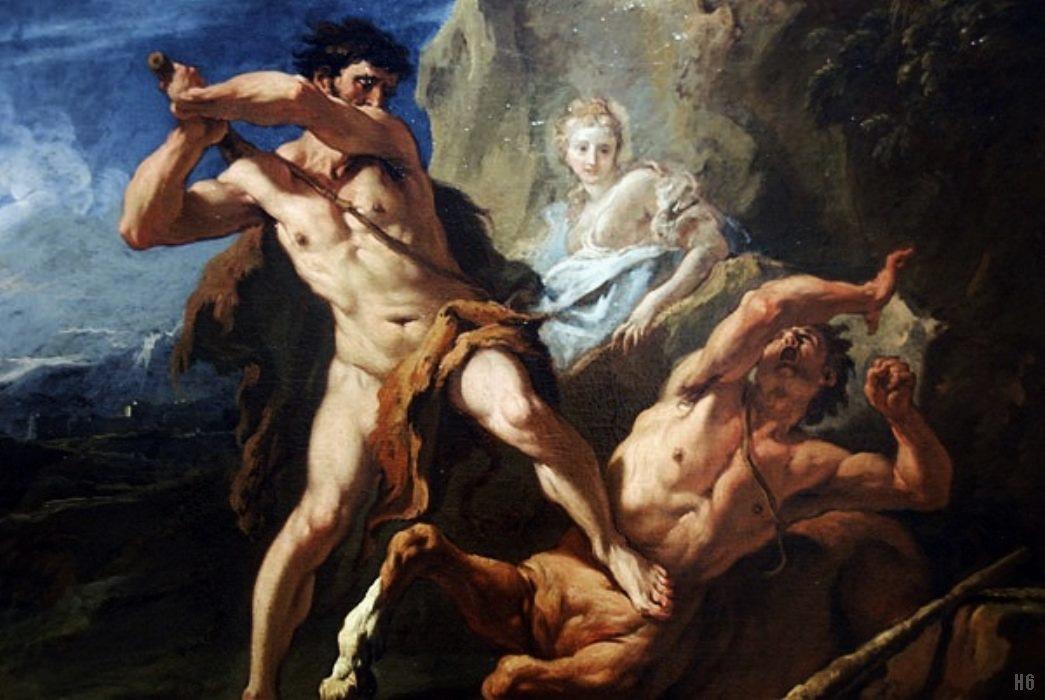 Hercules killing the centaur Nessus. Sebastiano Ricci.