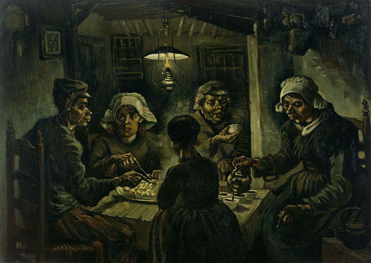 1_The Potato Eaters, 1885.