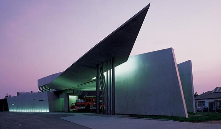 The Vitra Fire Station (1994), Hadid's first major built commission,