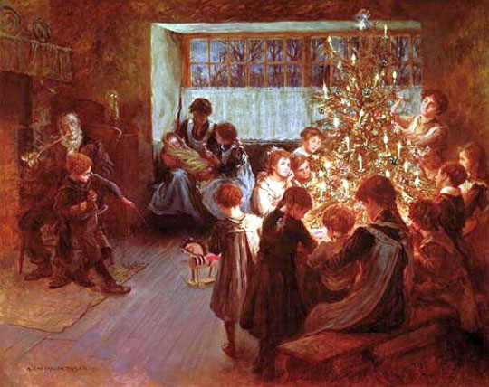 The-Christmas-Tree-by-Albert-Chevallier-Tayler,-1911-540_M