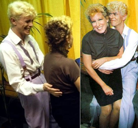 DAVID BOWIE, BETTE MIDLER