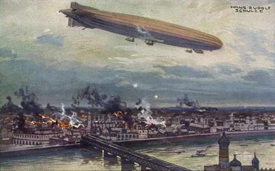 German_airship_bombing_Warsaw