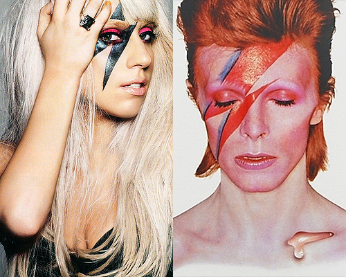 DAVID BOWIE, LADY GAGA