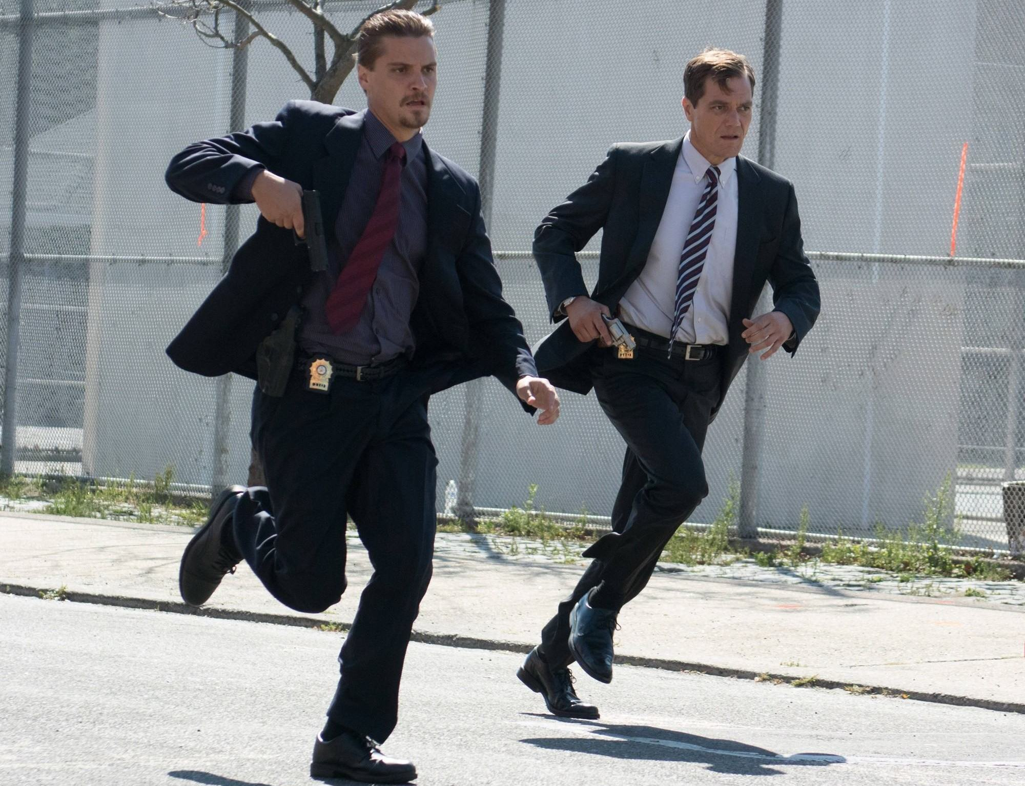 Luke Grimes stars as Todd Belkin and Michael Shannon stars as Dane Wells in Lionsgate Films' Freeheld (2015)