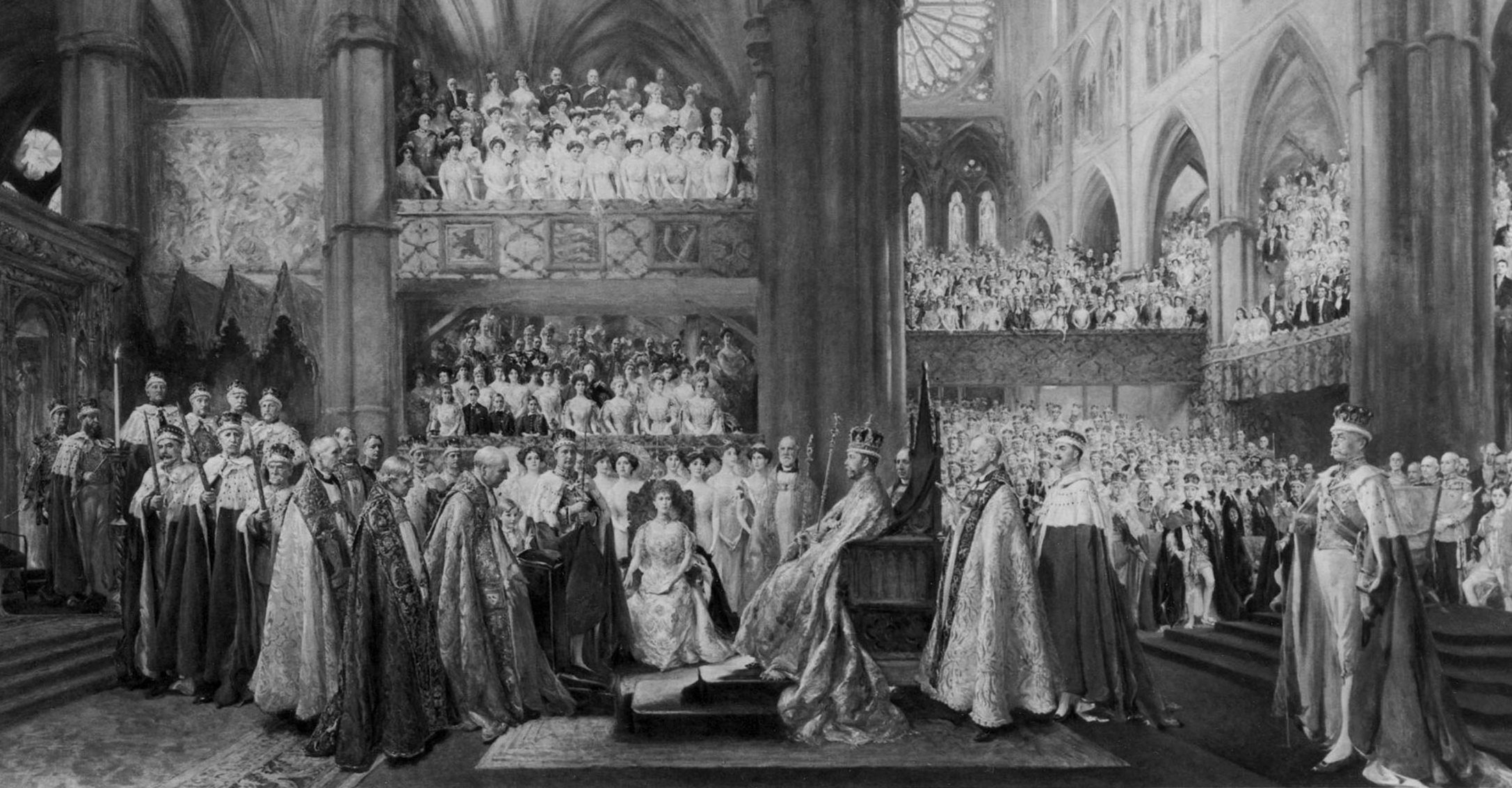 The_Coronation_Ceremony_of_His_Most_Gracious_Majesty_King_George_V_in_Westminster_Abbey__22nd_June_1911_by_John_Henry_Frederick_Bacon