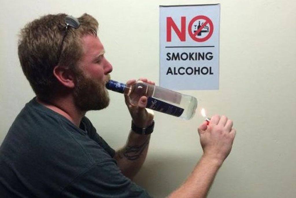 NO SMOKING ALCOHOL
