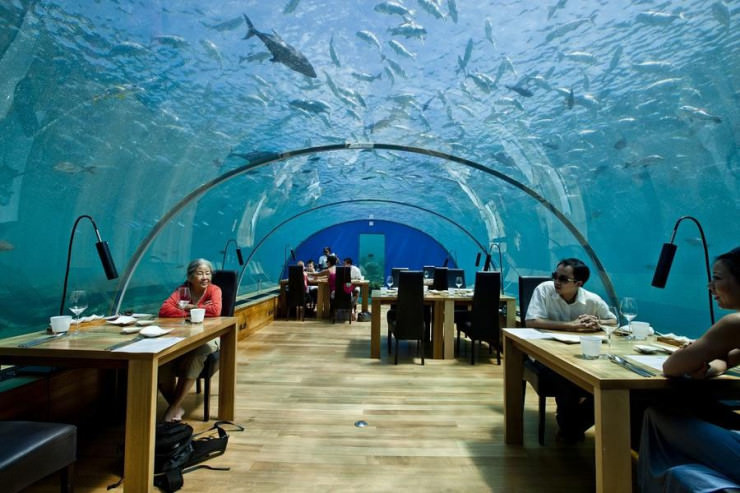 ithaa-restaurant, Περίεργα εστιατόρια