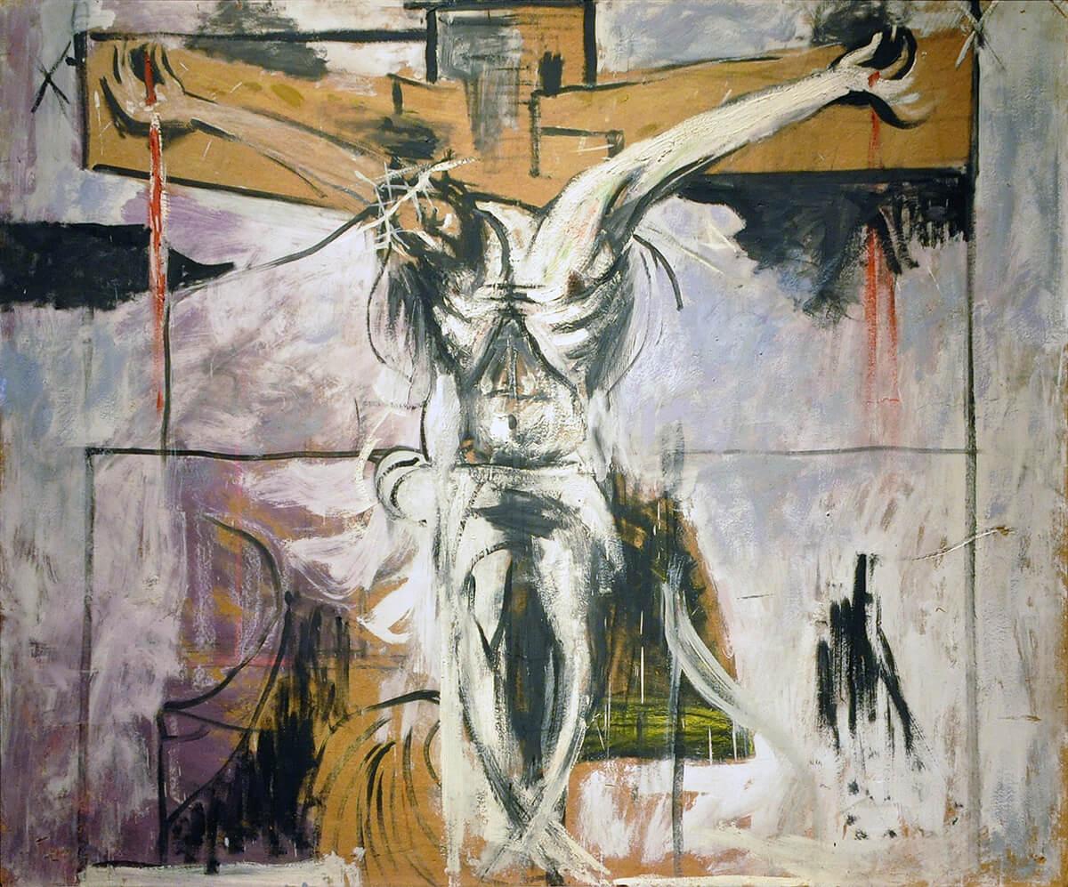 study-for-the-crucifixion-1947, GRAHAM SUTHERLAND, ΓΚΡΑΧΑΜ ΣΑΔΕΡΛΑΝΤ, ΖΩΓΡΑΦΟΣ, ΕΙΚΑΣΤΙΚΑ,