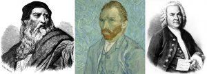 Ζώδιο Κριός, Aries, Leonardo Da Vinci, Vincent van Gogh και Johann Sebastian Bach