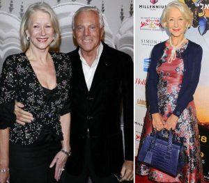 Ladies, Armani, Helen Mirren