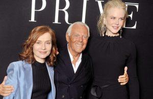 Isabelle Huppert, Armani, Nicole Kidman