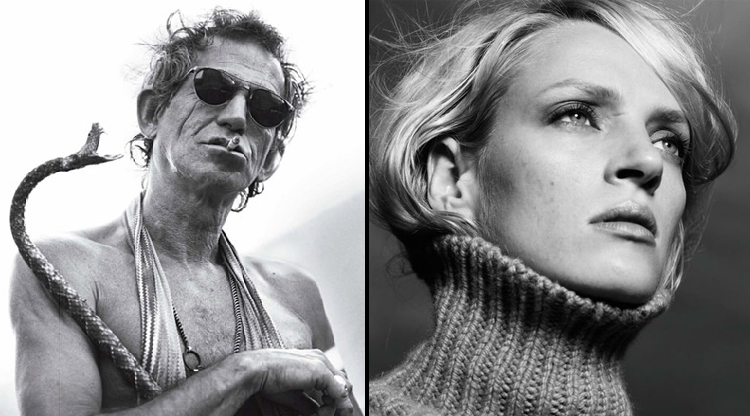 Keith Richards- Uma Therman