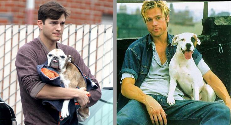 Ashton Kutcher-Brad Pitt