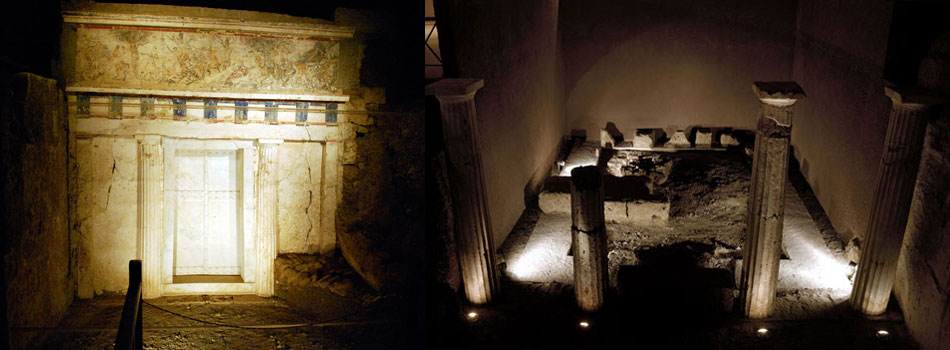 Βεργίνα, τάφος Φιλίππου Β', ευρήματα, μουσείο, Μανώλης Ανδρόνικος