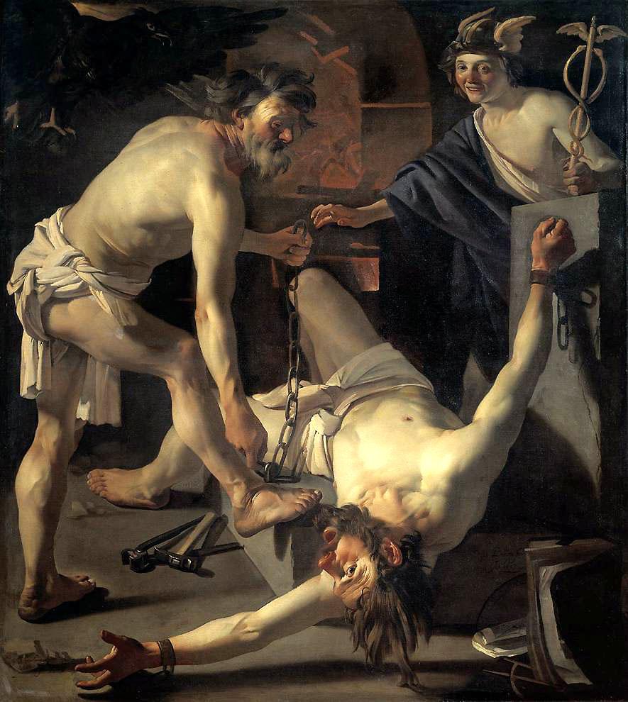 1623_Dirck_van_Baburen,_Prometheus_Being_Chained_by_Vulcan_Rijksmuseum,_Amsterdam