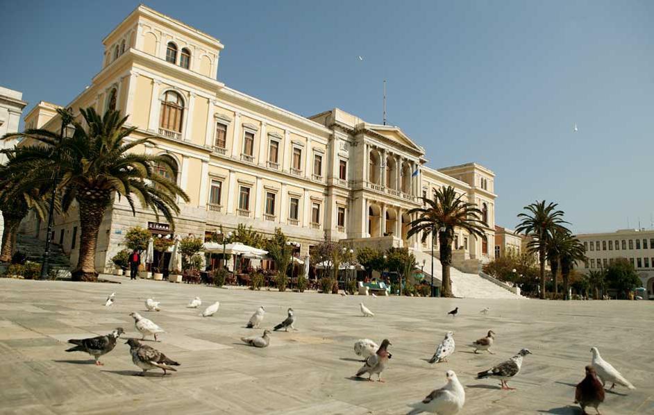 Δημαρχείο Σύρος, Ερνέστος Τσίλερ, Ernst Ziller, αρχιτέκτονας, ιστορικά κτίρια