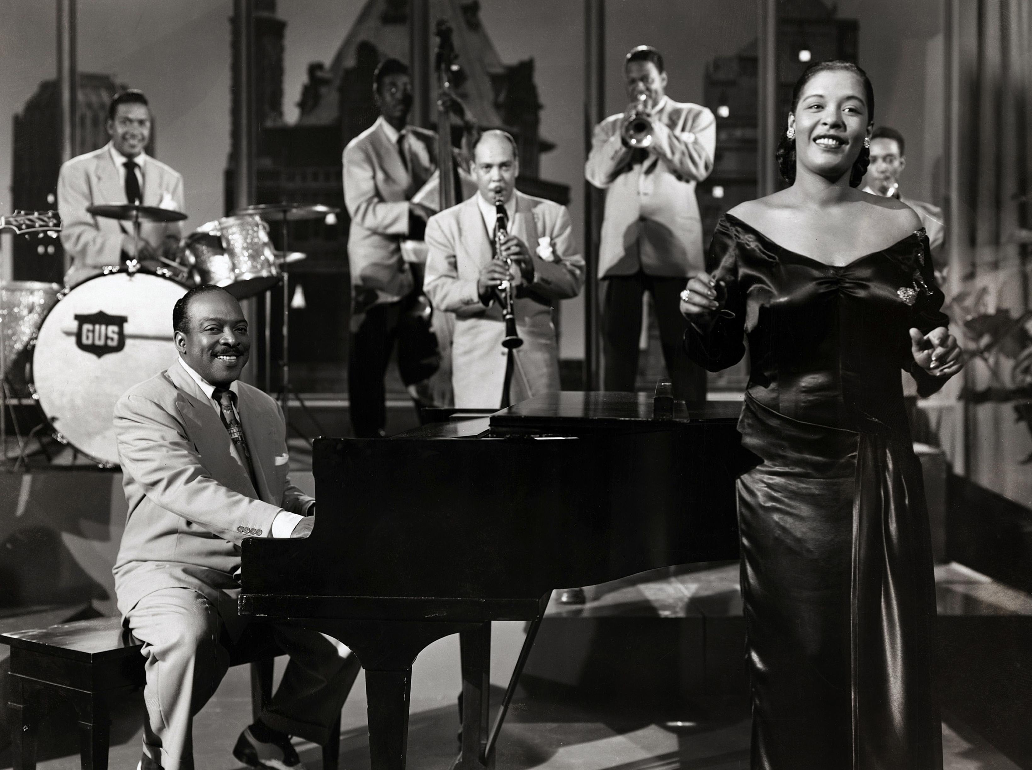 American jazz musician Count Basie, Billie Holiday