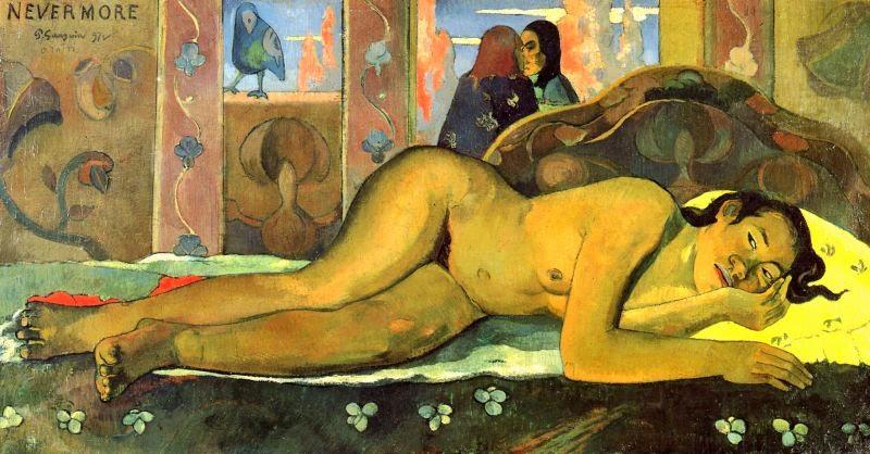 Paul-Gauguin - Nevermore - 1897, ΕΙΚΑΣΤΙΚΑ, ΖΩΓΡΑΦΙΚΗ, Paul Gauguin, ΠΟΛ ΓΚΟΓΚΕΝ, ΤΑΪΤΗ, ΤΟ BLOG ΤΟΥ ΝΙΚΟΥ ΜΟΥΡΑΤΙΔΗ, nikosonline.gr,