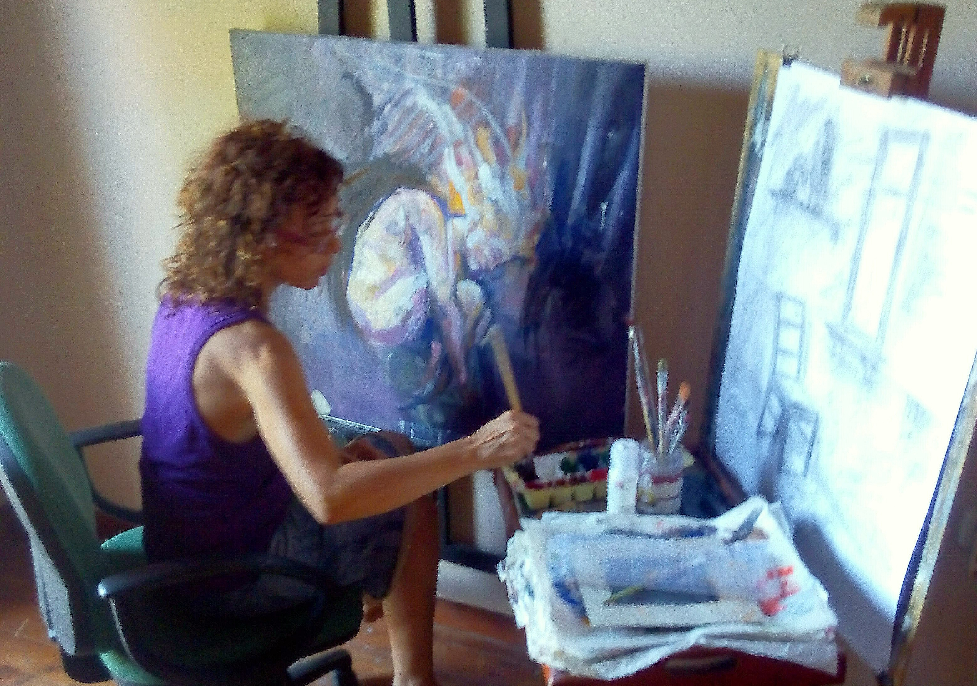 Νάγια Χρυσανθακοπούλου, ζωγράφος