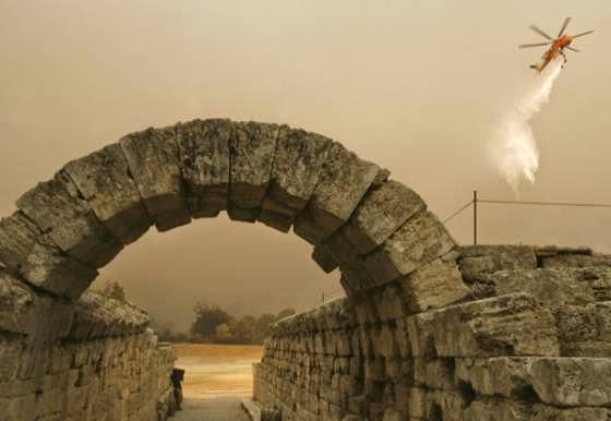Πυρκαγιές, αρχαία Ολυμπία