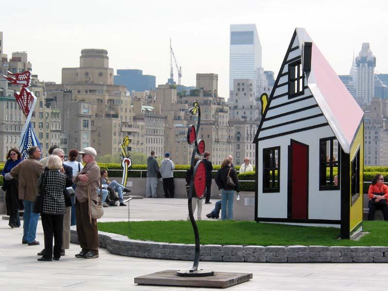 met museum_lichtenstein_roof, Roy Lichtenstein, ζωγραφική, pop art