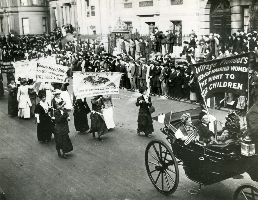 suffragette, mothers, march, ny
