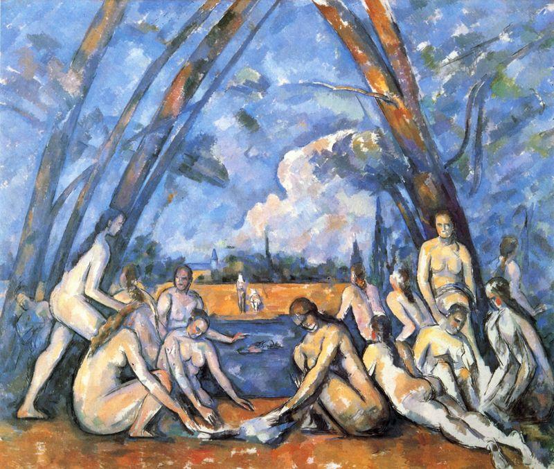 the_large_bathers, PAUL CEZANNE, ΠΟΛ ΣΕΖΑΝ, ΖΩΓΡΑΦΟΣ, ΕΙΚΑΣΤΙΚΑ,