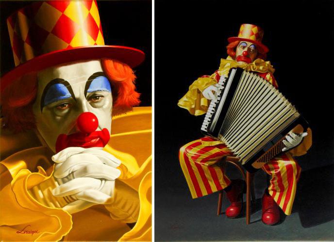εικαστικά, φωτορεαλισμός,Stavros Douzinas, Σταύρος Δουζίνας, ζωγραφική, art, clown, Κλοουν, nikosonline.gr
