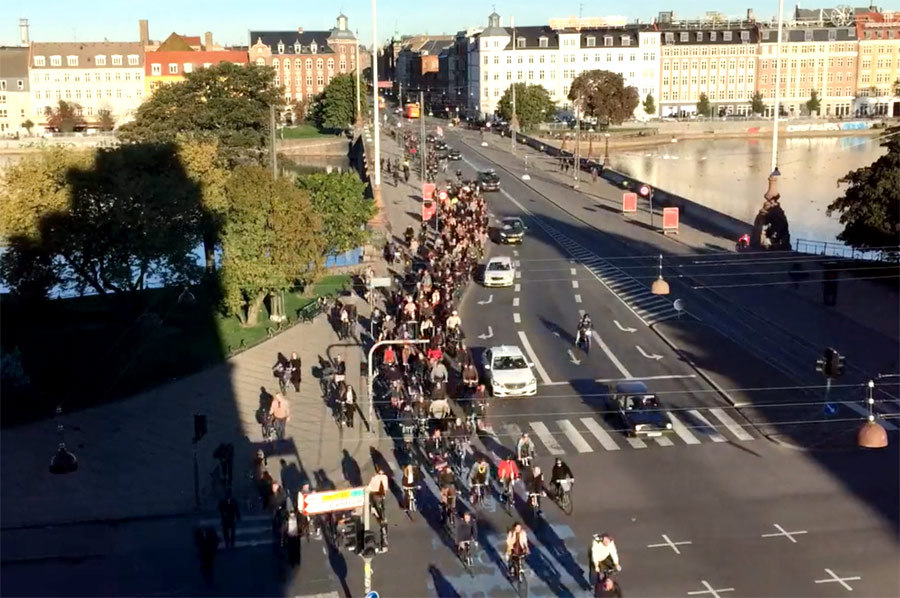 copenhagen-bike-rush-hour, Ποδήλατα, Δανία, Κοπεγχάγη, ποδηλάτες,