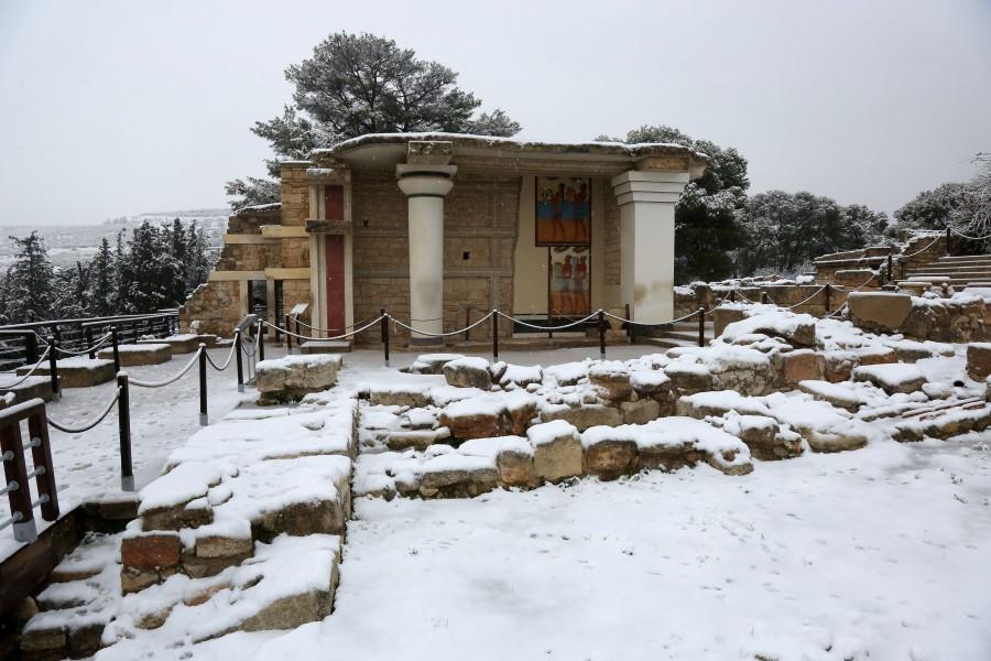 Κνωσός, Χιόνια, Κρήτη,